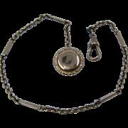 Ca 1900 GF Pocket Watch Chain w/ Button