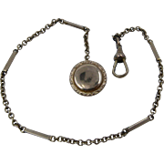 Ca 1900 GF Pocket Watch Chain w/ Button
