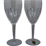 Pair Waterford  Carina Cut Crystal Water or Wine Goblets