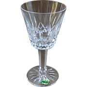 Waterford Lismore Claret Wine Glass  Cut Crystal Goblet