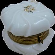 Wave Crest Opaline Painted Dresser Box CF Monroe Ca 1900