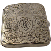 Art Nouveau Sterling Cigarette Case Repousse Winged Horse