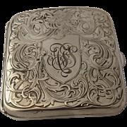 Art Nouveau Sterling Cigarette Case Repousse Winged Horse