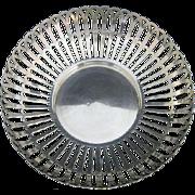 !909 Whiting Sterling Pierced Cutwork Bowl