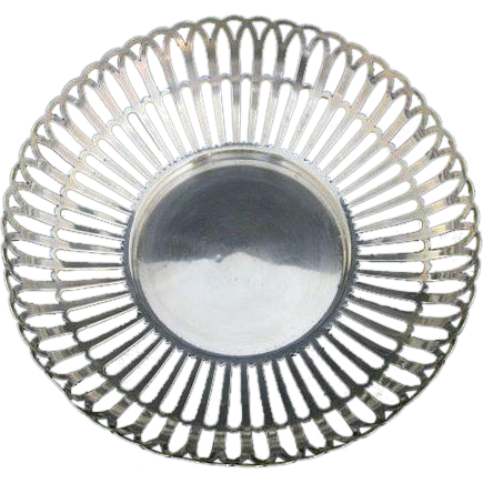 !909 Whiting Sterling Pierced Cutwork Bowl