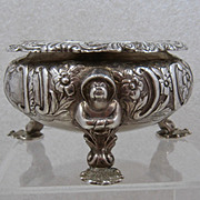 1851 William Mann Sterling Bowl Chinese Man Feet