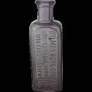 Antique Willits Cal Drug Co. Medicine Bottle Turned Purple