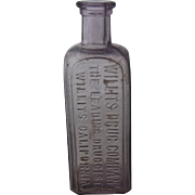 Antique Willits Cal Drug Co. Medicine Bottle Turned Purple