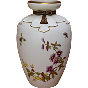 Large 1880s Royal Worcester Vase for Shreve Blush Ware 11 3/4""