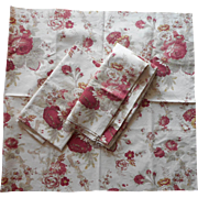 Waverly Norfolk Rose Garden Room Fabric Pieces Vintage Upholstery Weight