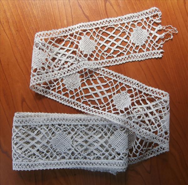Vintage Bobbin Lace Yardage Wide Insertion Unused