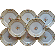 Salad Plates Altrohlau Diana Vintage 1920s China Czech Set 8