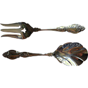 Frederick II Oneida Stainless Steel Vintage Serving Fork Spoon Set Servers