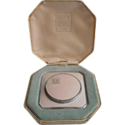 Lucien Lelong Enameled Compact in Fitted Case Powder Rouge