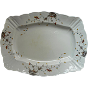 Big Platter Antique Ironstone English China Transferware Reg. Mark 1888