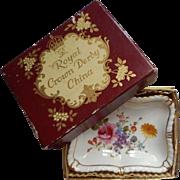 Royal Crown Derby China Pin Dish Derby Posies Original Box