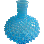 Fenton Lamp Base Opalescent Hobnail Turquoise Blue Vintage Glass