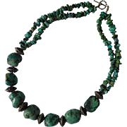 Sterling Silver Chunky Turquoise Necklace