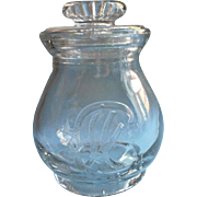Antique Advertising Jar Glass Patented October 18 1898