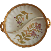 Royal Worcester Style Vintage Japan Hand Painted China Divided Dish