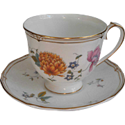 Wedgwood Rosemeade Cup Saucer Bone China English
