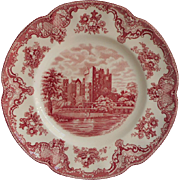 Pink Old Britain Castles Johnson Brothers England  Dinner Plate Vintage