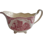 Pink Old Britain Castles Johnson Brothers England Creamer Vintage