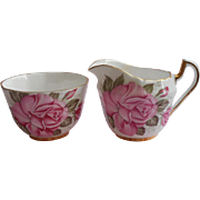 Pink Roses Bone China Little Open Sugar As Is Creamer Royal London