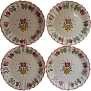 American Limoges Old Dutch China Vintage Bread Plates