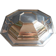 ca 1920 Silver Serving Dish Octagon Shape Pairpoint Convertible Tray Bowl