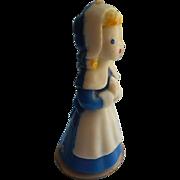Gurley Candle Pilgrim Girl Blue Classic Vintage
