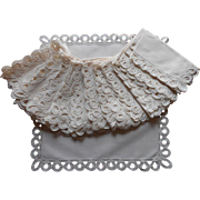 Cream Lace Linen Napkins Set 12 Vintage 1950s Unused