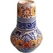 Talavera Pottery Tumble Up Set Hand Painted Mexico Puebla Vintage