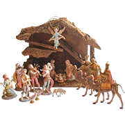 Fontanini Nativity Vintage Set Stable 1980s Wise Men On Camels Etc