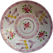Pink Luster Ware Antique China Saucer