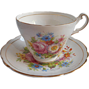 Bone China Regency Corsage English Cup Saucer Vintage