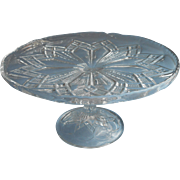 Cake Stand Antique Pedestal EAPG Pressed Glass
