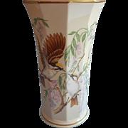 Lenox Huge Jefferson Vase Vintage China USA Wisteria Birds