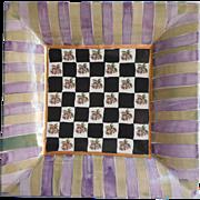 Mackenzie Childs Torquay Kelp Urchin 12 Inch Plate Square