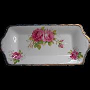 Royal Albert American Beauty Bone China Tray Vintage Tea Table