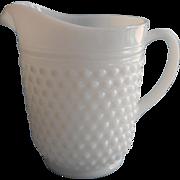 Milk Glass Pitcher Vintage Anchor Hocking Hobnail