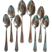 Monogram M Soup Spoons Tablespoons Vintage Mayfair 1923