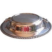1920s Silver Covered Serving Dish With Divided Insert Vintage On Copper