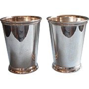 Vintage Julep Cups Silver Webster Wilcox Pair