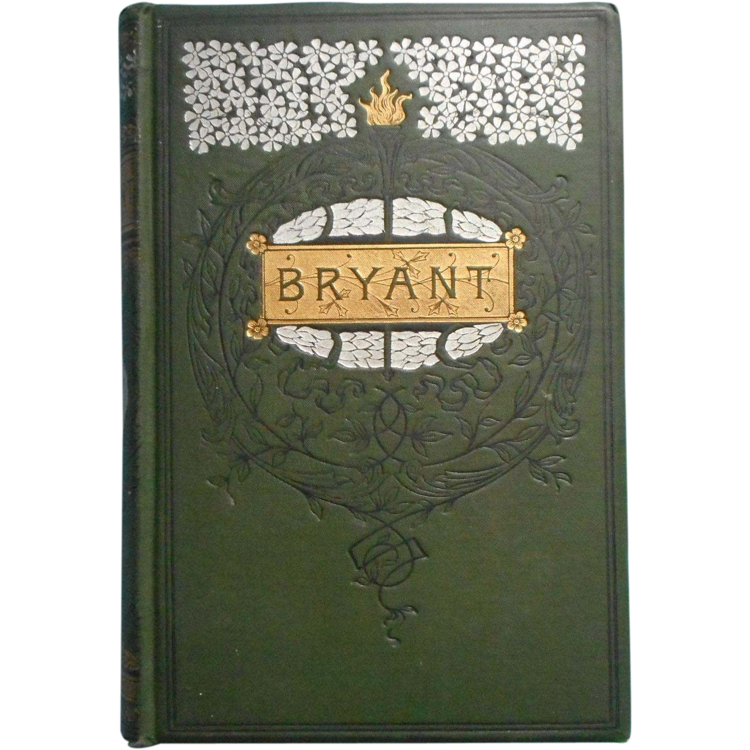 Beautiful Poetry Book Covers : Antique poetry book william cullen bryant beautiful cover