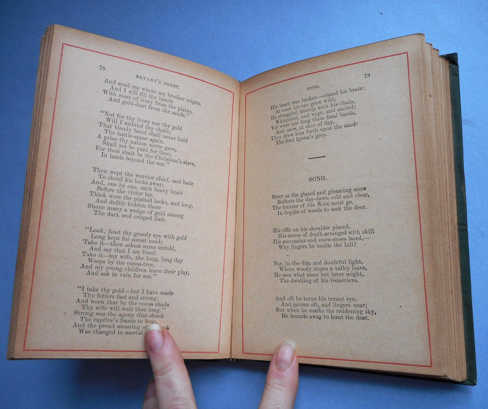 Beautiful Poetry Book Covers ~ Antique poetry book william cullen bryant beautiful cover
