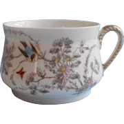Haviland Limoges Cup Antique French China Birds Butterfly Flowers