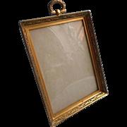 Vintage Little Photo Frame Standing Good Quality Velvet Back