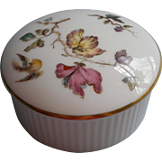 Wedgwood Small Trinket Box Jewelry Vintage Bone China England