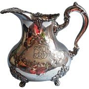 Victorian Silver Water Pitcher Ornate Antique Monogram C F B